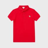 Paul Smith Boys' 2-6 Years Red Zebra-Logo 'Luciano' Polo Shirt
