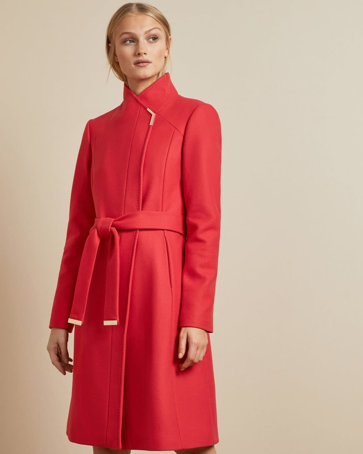 Ted Baker Long Belted Wrap Coat