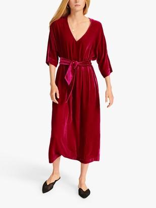 NRBY Zaza Silk Blend Velvet Midi Dress