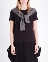 Drifter Aram tie-detail cotton-jersey t-shirt