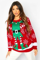 boohoo Christmas Mrs Elf Sweater