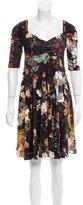 Just Cavalli Floral Print Gathered Dress