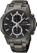 Seiko Mens Black Chronograph Solar Watch SSC095