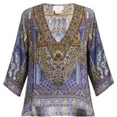 Camilla It Was All A Dream-print silk top