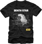 Fifth Sun Star Wars Death Star Schematic Mens T-Shirt (2X-Large)