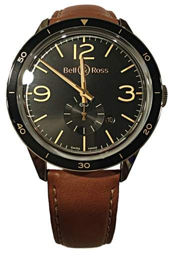 Bell & Ross Golden Heritage BRV123-GH-ST/SCA Stainless Steel 43mm Mens Watch