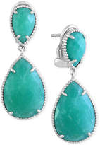 Effy Amazonite (14-2/5 ct. t.w.) Drop Earrings in Sterling Silver