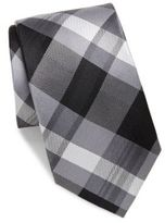 Burma Bibas Plaid Check Silk Tie