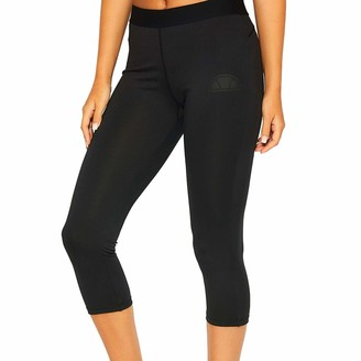 Ellesse Sport Cerna Womens 3/4 Fitness Fashion Legging Tight Black - UK 8