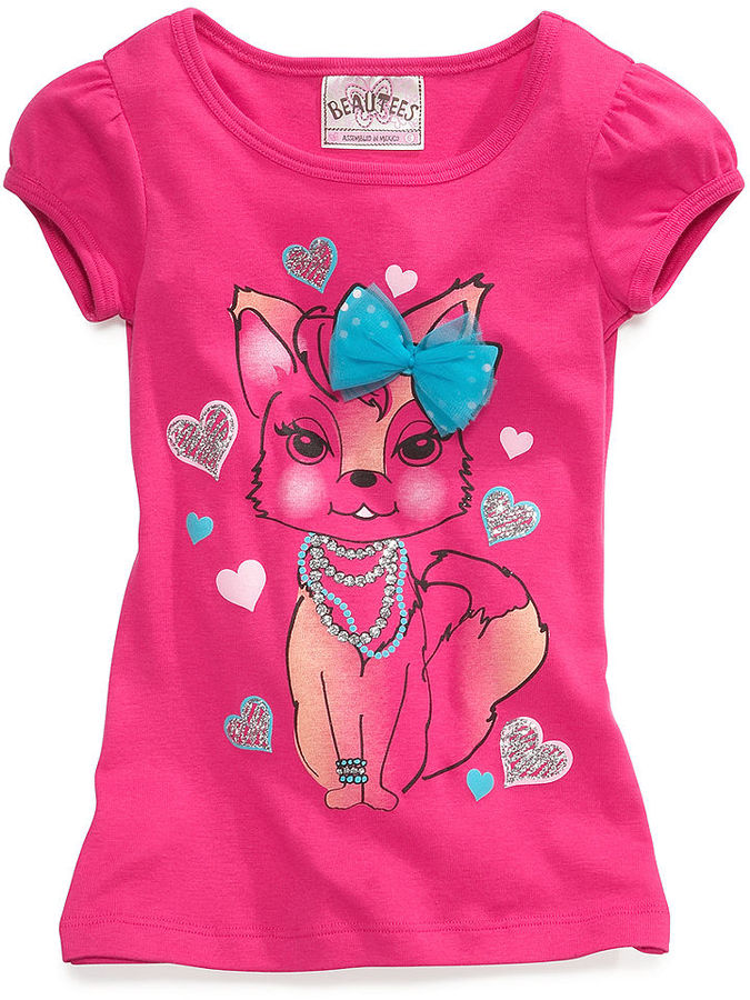 Beautees Kids T-Shirt, Little Girls Graphic Tee