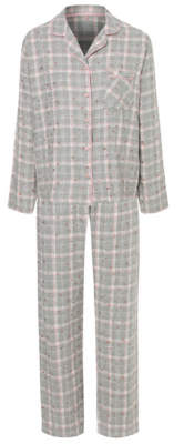George Tickled Pink Grey Check Star Collared Pyjamas