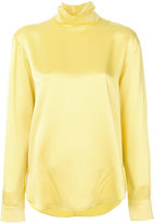 Cédric Charlier high neck blouse - women - Acetate/Viscose - 40