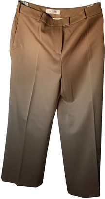 Valentino Camel Wool Trousers