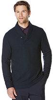 Perry Ellis Shawl Collar Long-Sleeve Elbow Patch Shirt