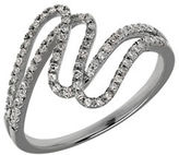 Lord & Taylor Diamond and 14K White Gold Swirls Ring