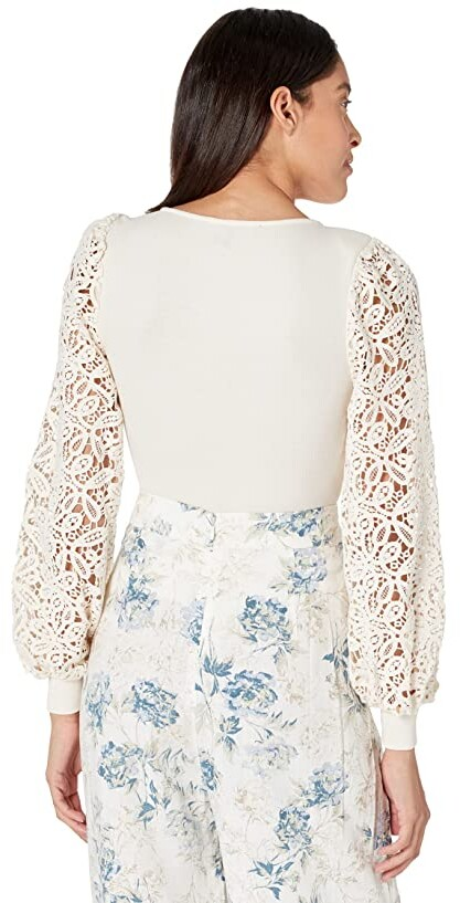 Thumbnail for your product : BCBGMAXAZRIA Long Sleeve Cotton Rib Bodysuit