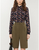 Ted Baker Nordic Puzzle crepe shirt