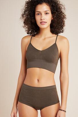 Anthropologie Seamless Jacquard Hipster Briefs By in Green Size XS/S