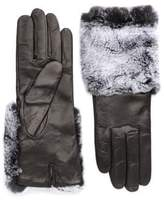 Carolina Amato Fur-Trimmed Leather Gloves