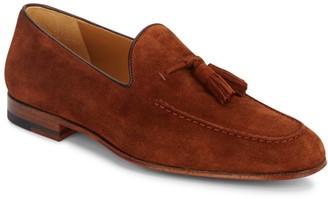 Magnanni Suede Tassel Loafers