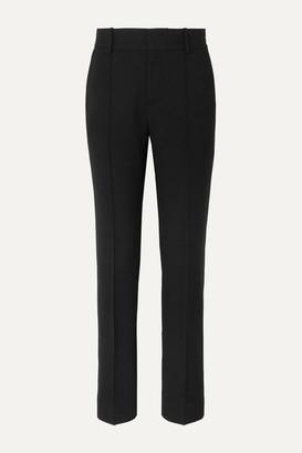 Vince Crepe Straight-leg Pants - Black