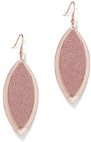 New York & Co. Glitter-Finish Teardrop Earring