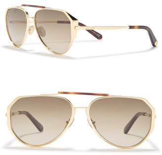 Roberto Cavalli 58mm Aviator Sunglasses