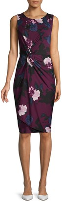 Donna Karan Floral-Print Sheath Dress