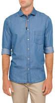 Paul Smith Denim Embroidered Shirt
