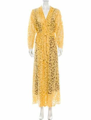 Roseanna Printed Long Dress Gold