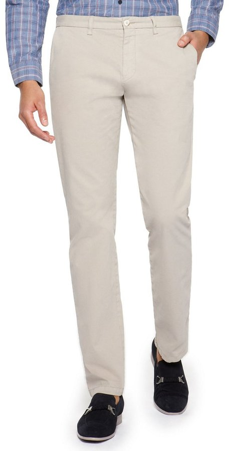 HUGO BOSS 'Crigan-D' | Regular Fit, Stretch Cotton Casual Pants by BOSS