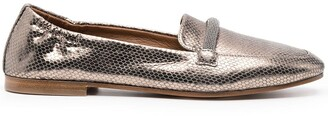 Brunello Cucinelli Metallic-Effect Loafers