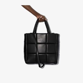 Stand Studio Black Assante Leather Tote Bag