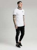 SikSilk Ringer Gym T-Shirt - White