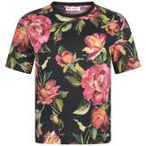Dolce & Gabbana Dolce & GabbanaGirls Black & Pink Rose Top