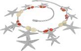 Forzieri Starfish Pendants Sterling Silver Gemstones Necklace