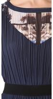 BCBGMAXAZRIA Printed Gown