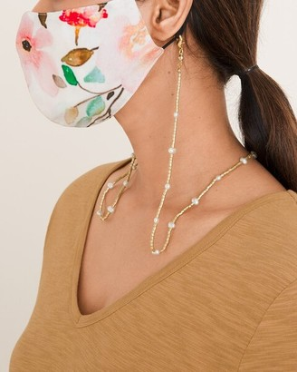 Chico's Convertible Goldtone and Faux-Pearl Mask Necklace