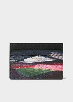 Paul Smith & Manchester United 'Old Trafford' Print Leather Credit Card Holder