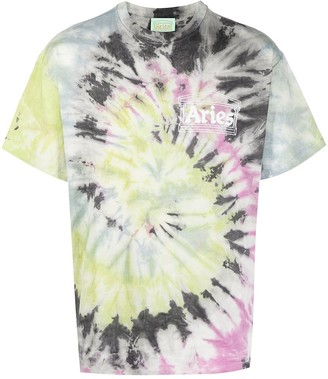 Aries Tie-Dye Cotton T-Shirt