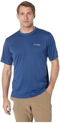 Columbia PFG ZERO Rulestm S/S Shirt (Carbon) Men's Short Sleeve Pullover