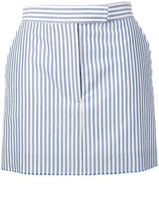 Thom Browne Raw Edge Bar Stripe Miniskirt