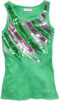 GUESS Shirt, Little Girls Sequin Tank Top