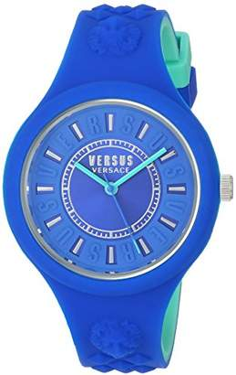 Versus By Versace Women's FIRE Island Bicolor Stainless Steel Quartz Watch with Silicone Strap