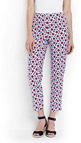 Lands' End Women's Petite Bi-Stretch Capri Pants-Black Dots