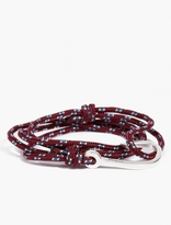 Miansai Maroon Cord and Silver-Plated Hook Bracelet