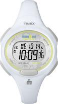 Timex Womens White Resin Strap 10-Lap Watch T5K6069J