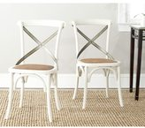 Safavieh Country Classic Dining Eleanor Antique White X-Back Side Chairs (Set of 2)
