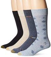 Gold Toe Men's Nautical Anchors Crew 4-Pack Sock