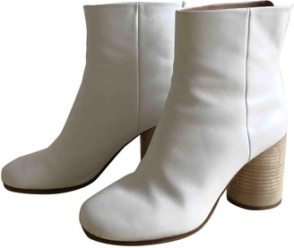 Maison Margiela Tabi White Leather Ankle boots